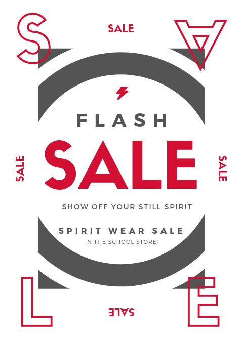 Spirit Wear is On Sale